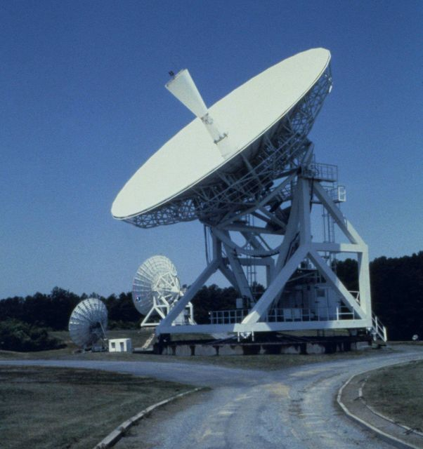 Satellite antennas at Wallops Island. Picture