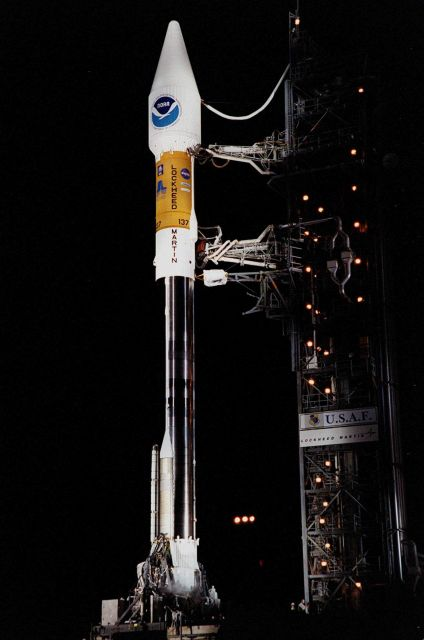 Tower rollback before the GOES-L launch from Cape Canaveral Picture