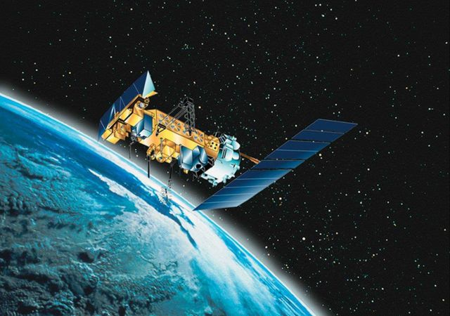 Graphic of NOAA-N polar-orbiting spacecraft Picture