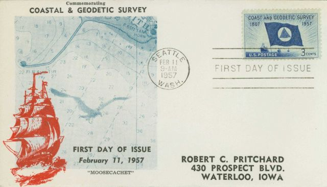 First day cover with Coast and Geodetic Survey commemorative stamp Picture