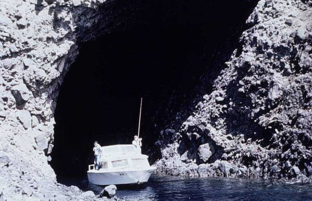 Hydrographic spelunkers - cave exploration by boat Picture