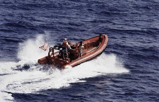 Rigid Inflatable Hull Boat off MALCOLM BALDRIGE. Picture