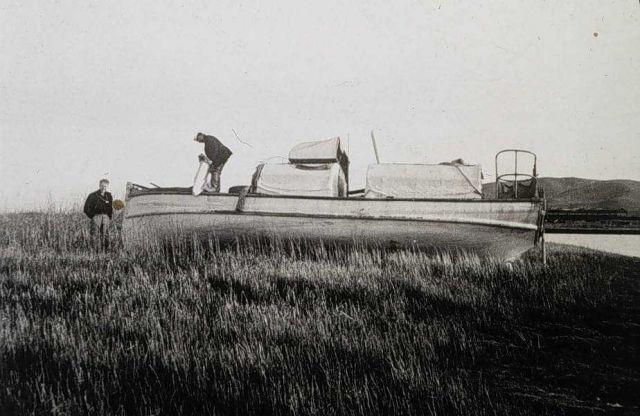 Survey launch on Sacramento River Delta. Picture