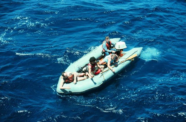 Zodiac rubber boat off of DISCOVERER Picture