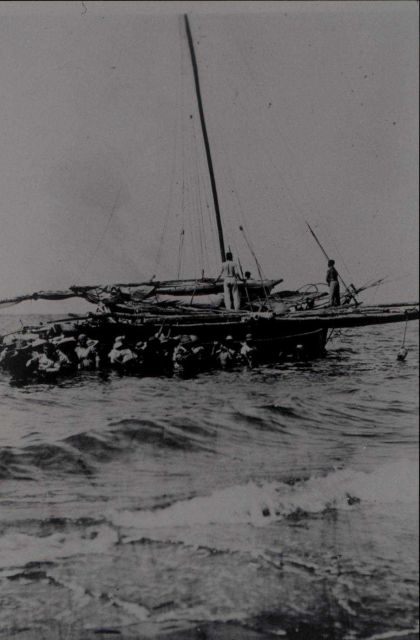Using local inter-island ferry service. Picture