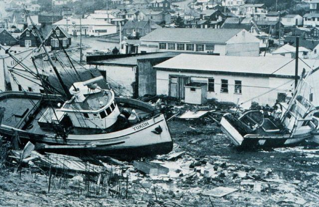 Tsunami damage at Kodiak Picture