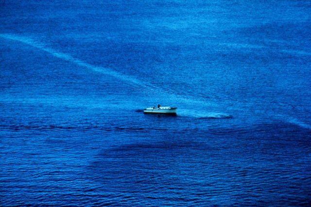 Hydrographic survey launch on a calm day in the South Pacific Picture