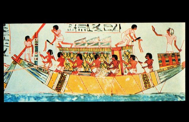 Egyptian tomb painting from 1450 B.C Picture