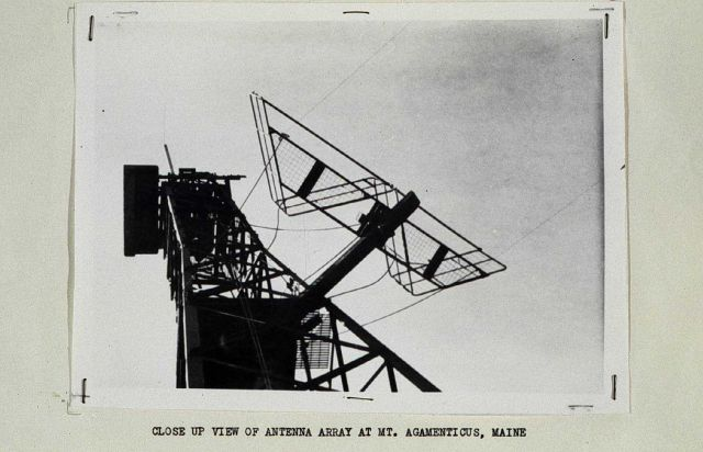 Closeup of Shoran antenna mounted on radar antenna Picture