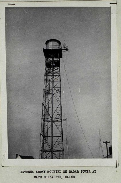 Shoran antenna installed on radar tower Picture