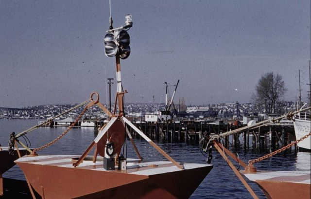 Current buoys with lights, radar reflectors, and F.M Picture
