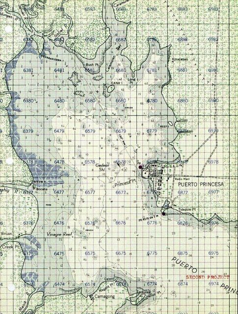 C&GS Puerto Princesa, Philippines chart with military grid Picture