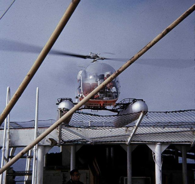 Helicopter support for SURVEYOR operations Picture