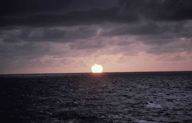 Pacific sunset - waiting for the green flash. Picture