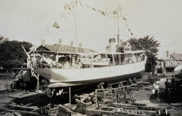 Coast and Geodetic Survey Ship NATOMA in shipyard dressed for the 4th of July Picture