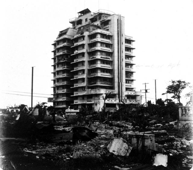 Michelle Apartments at Manila, home of Marvin and Muriel Paulson following World War II. Picture