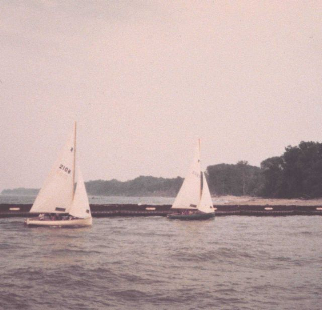 Sailboats in Fairport Harbor. Picture
