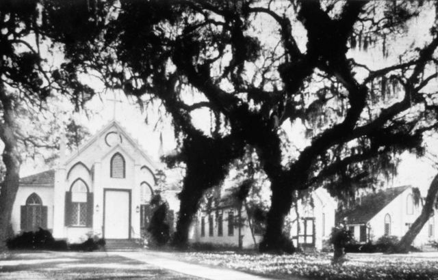 Trinity Episcopal Church was built in 1849 Before Hurricane Camille Picture