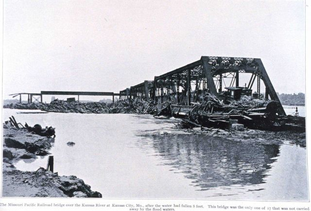 The Missouri Pacific Railroad Bridge over the Kansas River Picture