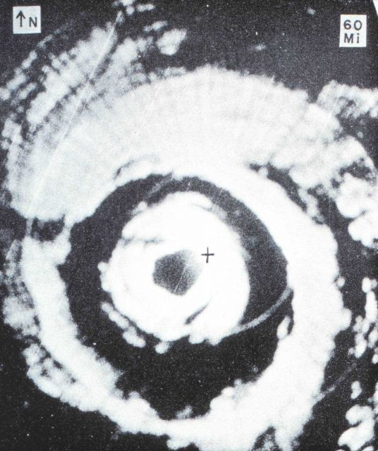 Aircraft APS-45 radar image of Hurricane Donna Picture