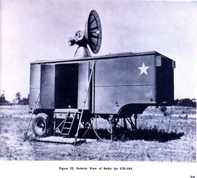 Exterior view of radio set SCR-584, a mobile radar unit Picture