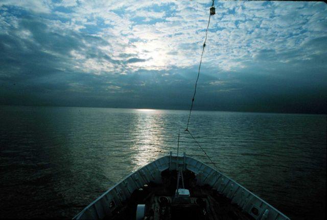 A NOAA Ship SURVEYOR sunset Picture