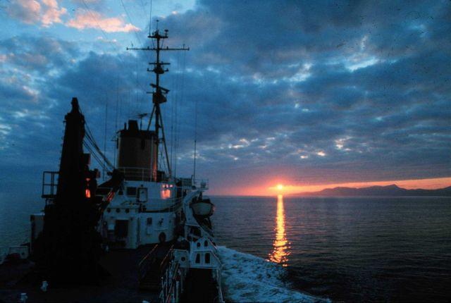 A NOAA Ship SURVEYOR sunset - Photo -2 of sequence Picture