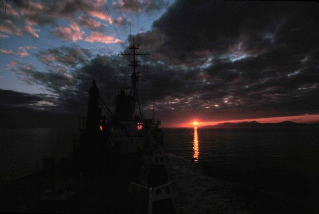 A NOAA Ship SURVEYOR sunset - Photo -3 of sequence Picture