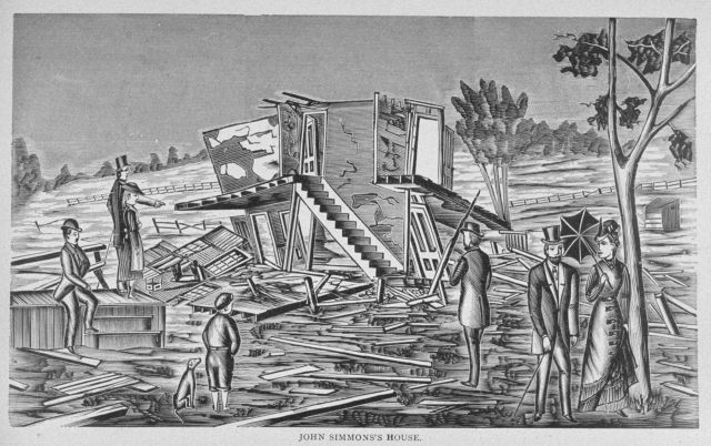 All that remained of John Simmons' house following passage of the tornado of August 9, 1878 Picture