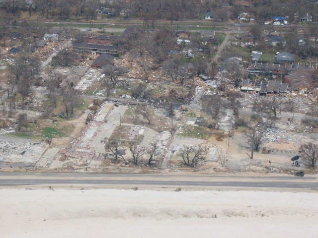 Total destruction for a block inland in Biloxi Picture