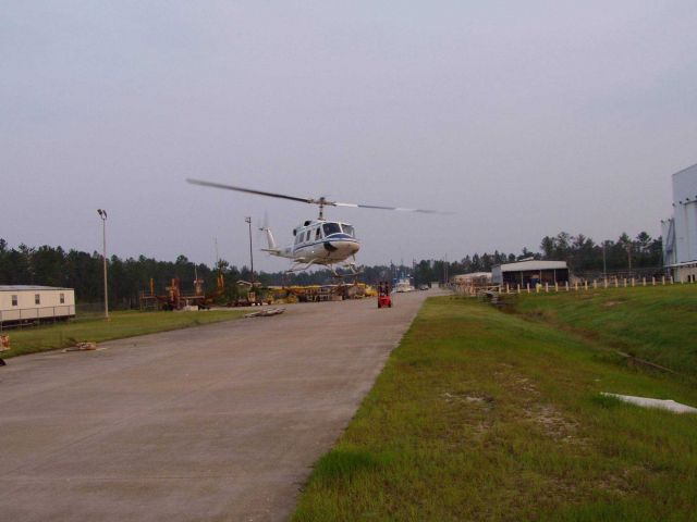 NOAA helicopter taking off from the temporary base at the National Data Buoy Center Picture