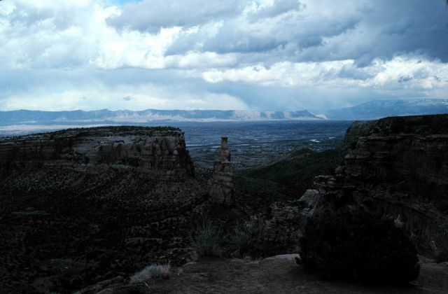 Stormy day on the Colorado Plateau. Picture