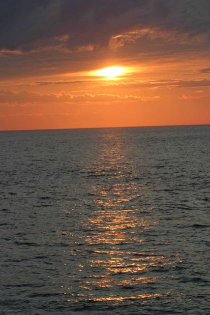 Sunset at sea. Picture