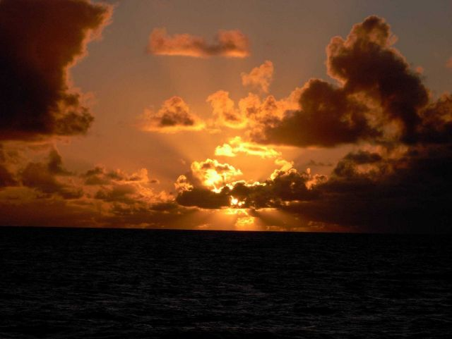 Tropical sunset at sea. Picture