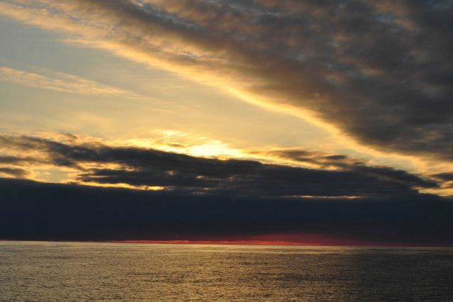 Sunset on the Bering Sea. Picture