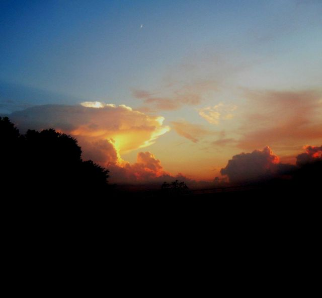 Picture taken at sunset following severe weather and tornado outbreak. Picture