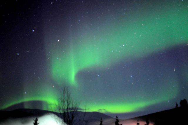 Aurora borealis - the Northern Lights. Picture