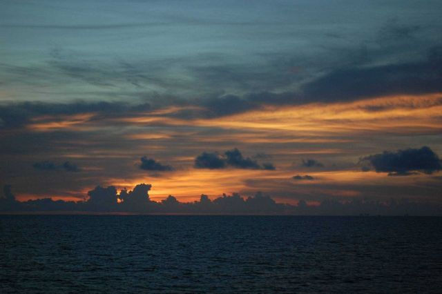 Sunset in the Gulf of Mexico. Picture