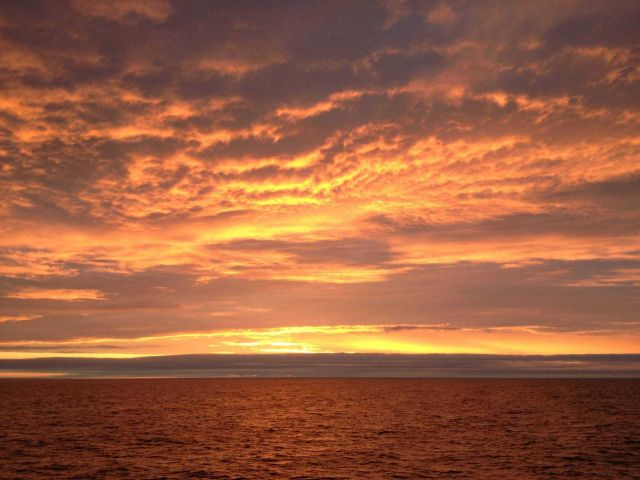 Sunset in the Gulf of Alaska Picture