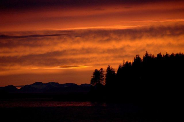 A copper-colored sunset. Picture
