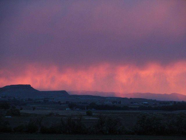 Virga at sunset. Picture