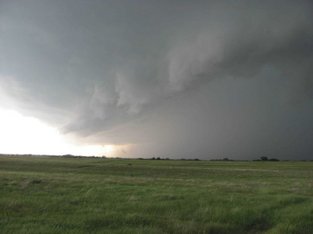 Supercell thunderstorm over the prairie Picture