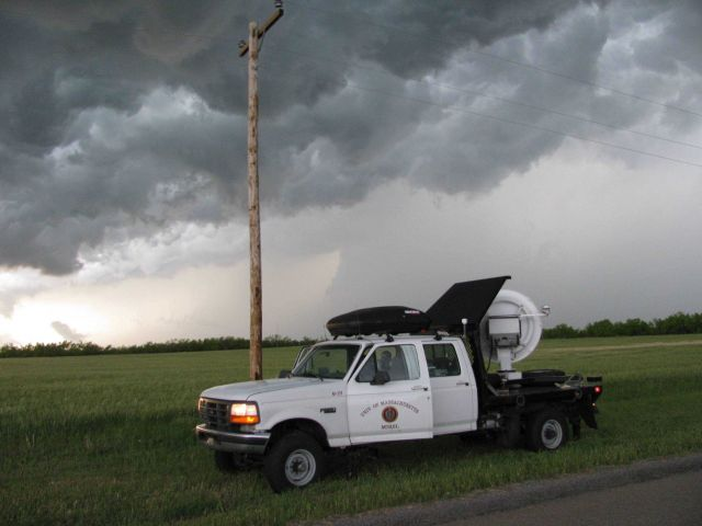 W-band radar scanning a storm Picture