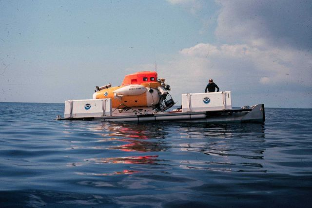 MAKALII was launched, retrieved, & transported from a submersible barge (LRT). Picture