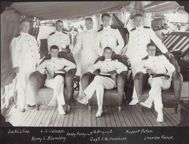L to R - Chief Engineer Jack Collins, Harry Blombert, Leonard Johnson, Honey Hunnycutt, G Picture