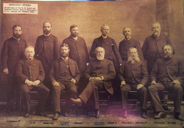Attendees at C&GS Topographical Conference of 1892, Henry Whiting Chairman Picture