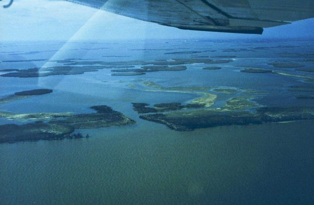 The first in a series of aerial images of Dixon Bay Picture
