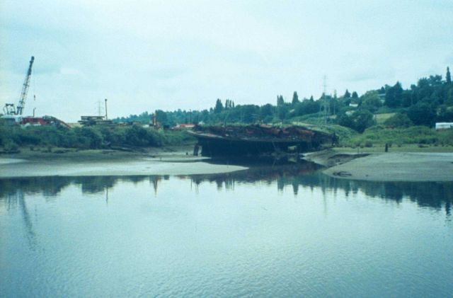 A derelict ferry at the Turning Basin site adjacent to Kenco Marine and a Coastal America site Picture