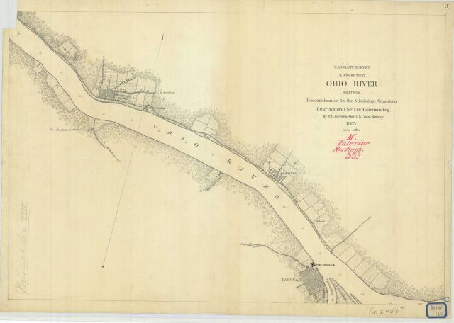 Chart of Part of the Southern Coat of Long Island - note that blowup of coastal view of Fire Island Lighthouse can be found at image cgs05447. Picture