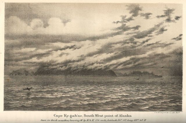 Cape Ky-gah-ne, southwest point SE Alaska Picture